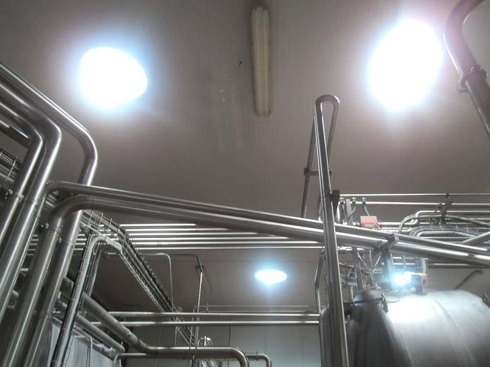 éclairage naturel intérieur usine de lait