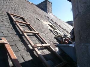 préparation puits de lumière Ecalir'Nat sur toiture