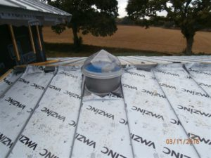 puits de lumière toiture zinc