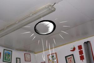 Croquis d'implantation du conduit de lumière et du diffuseur