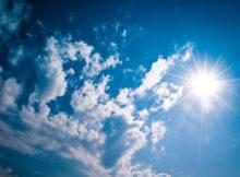 ciel bleu - soleil - lumière naturelle